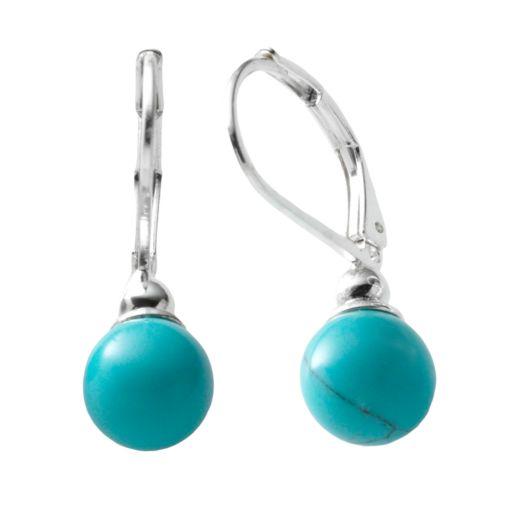 Chaps Silver Tone Drop Earrings