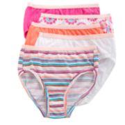 Hanes 5-pk. Patterned Brief Panties - Girls