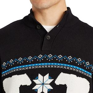 Men's Chaps Classic-Fit Mockneck Pullover Sweater