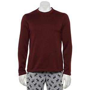 Big & Tall Sonoma Goods For Life® Sweater Fleece Crewneck Sleep Tee
