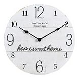 FirsTime & Co. Home Sweet Home Wall Clock