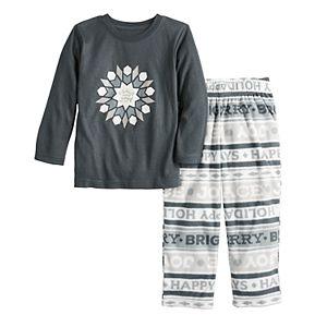 Toddler Jammies for Your Families® Peace and Joy Microfleece Top & Pants Pajama Set