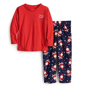 Toddler Jammies For Your Families® Happy Santa Top & Pants Pajama Set