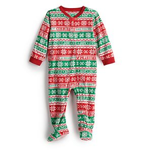 Jammies For Your Families® Baby Christmas Like You Mean It One-Piece Pajamas