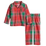 Toddler Jammies For Your Families® Jingle All The Way Plaid Top & Pants Pajama Set