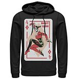 Men's DC Comics Harley Quinn Playing Card Hoodie
