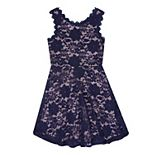 Girls 7-16 Speechless Sleeveless Lace Skater Dress
