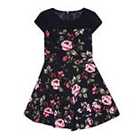 Girls 7-16 Speechless Cap Sleeve Floral Dress