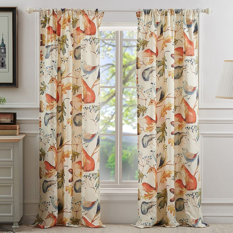 Barefoot Bungalow 2-pack Willow Window Curtains. Multicolor