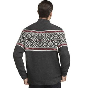Men's IZOD Classic-Fit Fairisle Quarter-Zip Sweater