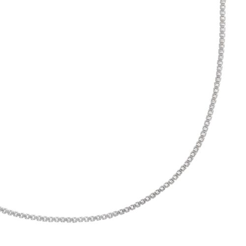 Sterling Silver Box Chain Necklace - 18-in.