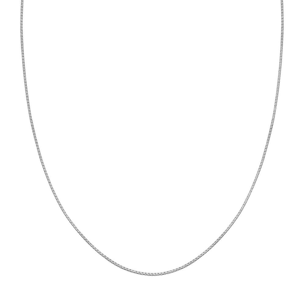 PRIMROSE Sterling Silver Box Chain Necklace