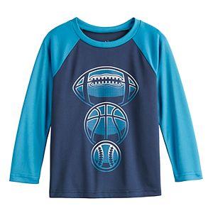 Toddler Boy Jumping Beans® Football, Basketball, Baseball Active Raglan Tee