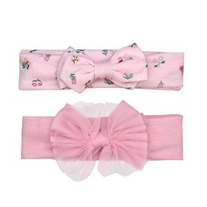 Baby Girl Carter's 2 Pack Bow Floral Headwraps