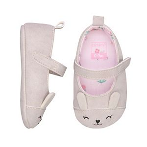 Baby Girl Carter's Bunny Mary Jane Crib Shoes