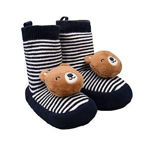 Baby Boy Carter's Bear Striped Rattle Socks