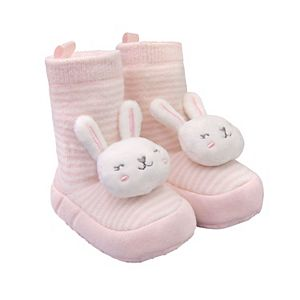 Baby Girl Carter's Bunny Striped Rattle Socks