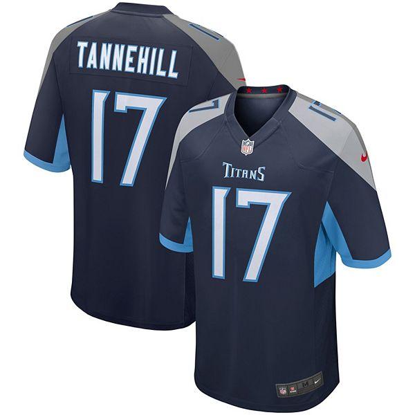 Men's Nike Ryan Tannehill Navy Tennessee Titans Game Jersey