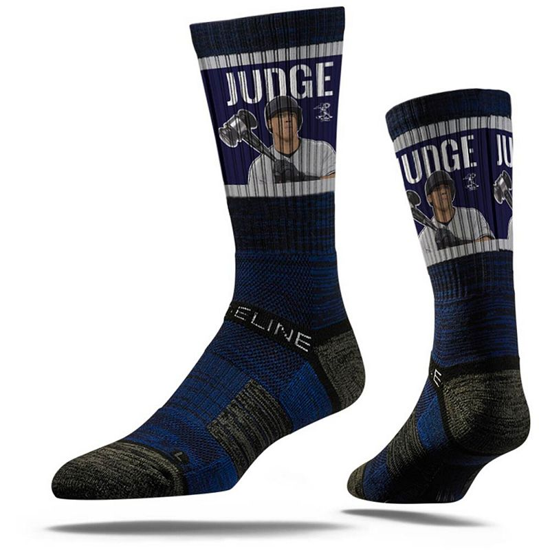 Men's Strideline Aaron Judge New York Yankees Premium Player Crew Socks. Size: Medium/Large. Blue