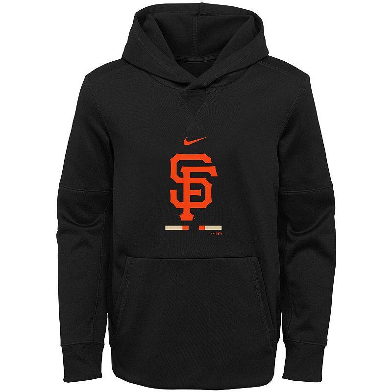 Youth Nike Black San Francisco Giants Fleece Performance Pullover Hoodie, Boy's, Size: YTH Large