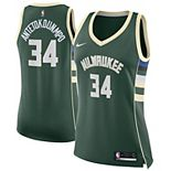 Women's Nike Giannis Antetokounmpo Green Milwaukee Bucks Swingman Jersey - Icon Edition