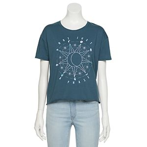 "Juniors' Sun & Moon ""Not Just A Phase"" Graphic Tee"
