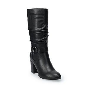Croft & Barrow® Ayeay Women's High Heel Slouch Boots
