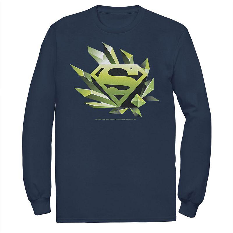 Men's DC Comics Superman Kryptonite Chest Logo Tee, Size: XL, Blue