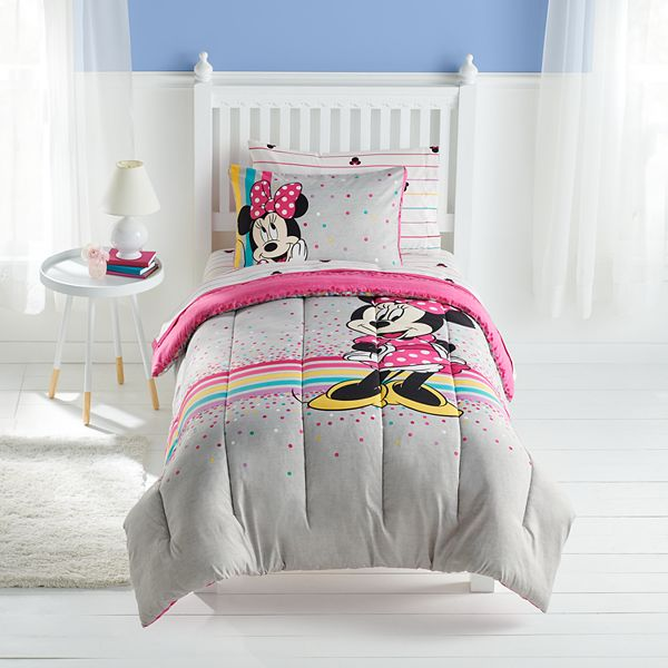 Disney S Minnie Mouse Comforter Set With Sheets By The Big One