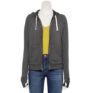 Juniors' SO® Favorite Long Sleeve Zip-Up Hoodie