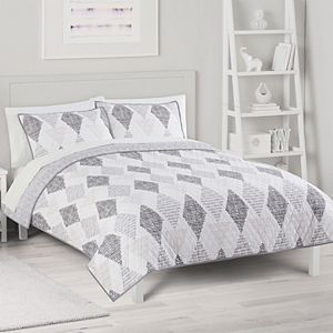 The Big One® Reversible Geo Quilt and Sham Set