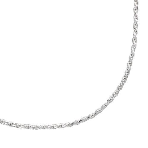 Sterling Silver Textured Rope Chain Necklace - 18-in.