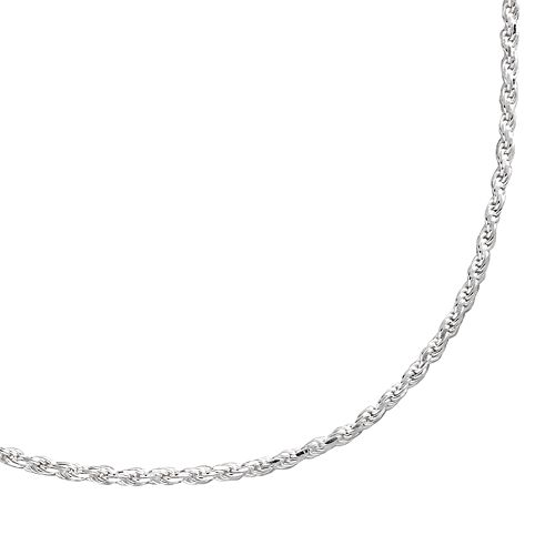 PRIMROSE Sterling Silver Textured Rope Chain Necklace