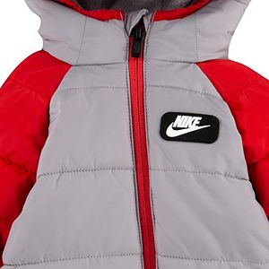 Baby Boy Nike Full-Zip Hooded Puffer Snowsuit