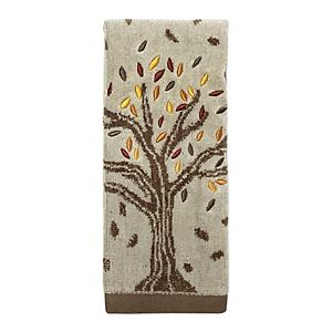Celebrate Harvest Together Fall Tree Fingertip Towel