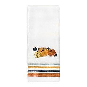 Celebrate Harvest Together Pumpkins Fingertip Towel