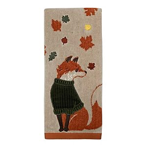 Celebrate Harvest Together Fox Hand Towel