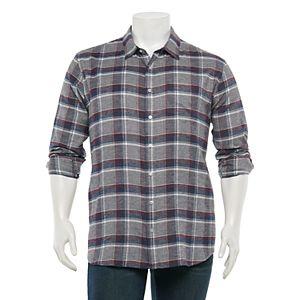 Big & Tall Apt. 9® Premier Flex Regular-Fit Flannel Button-Down Shirt