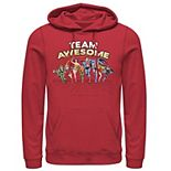 Men's Justice League Team Awesome Group Shot Hoodie