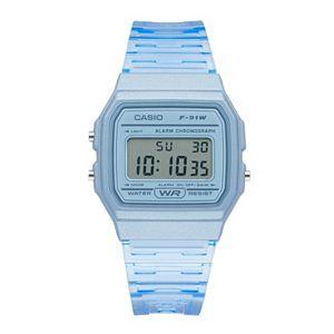 Casio Unisex Blue Jelly Strap Digital Watch - F91WS-2OS