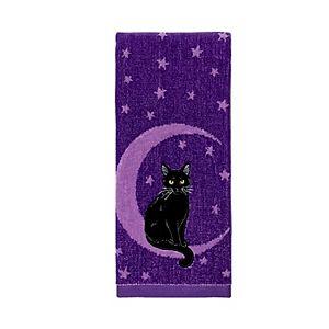 Celebrate Halloween Together Cat On The Moon Hand Towel