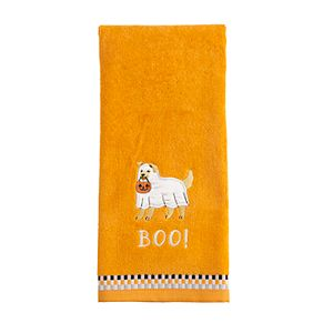 Celebrate Halloween Together Ghost Dog Hand Towel