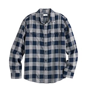 Men's Sonoma Goods For Life® Brushed Flannel Button-Down Shirt