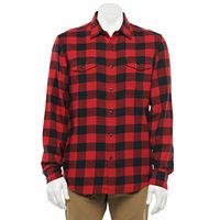 Deals on Sonoma Goods For Life Mens Brushed Flannel Button-Down Shirt