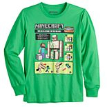 Boys 8-20 & Husky Minecraft Iron Golem Long Sleeve Graphic Tee