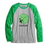 Boys 8-20 & Husky Minecraft Roll Along Long Sleeve Graphic Tee
