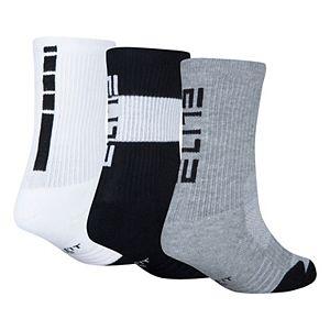 Boys Nike 3-Pack Elite Basketball Crew Socks