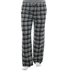 Big & Tall Croft & Barrow® Plaid Flannel Sleep Pants