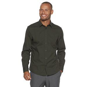 Men's Apt. 9 No-Iron Modern-Fit Solid Button-Down Shirt