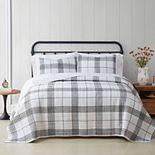 Cottage Classics Plaid Quilt Set